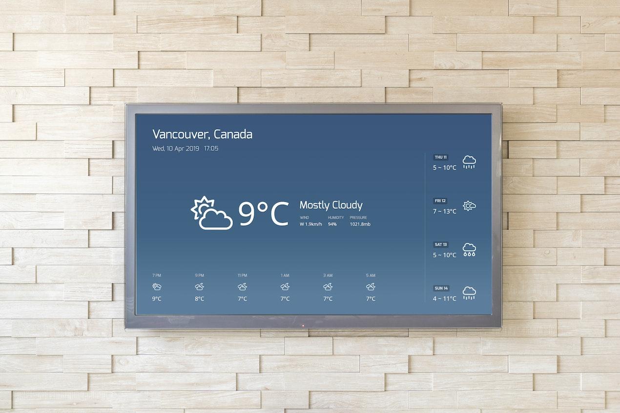 Weather App for Digital Signage image