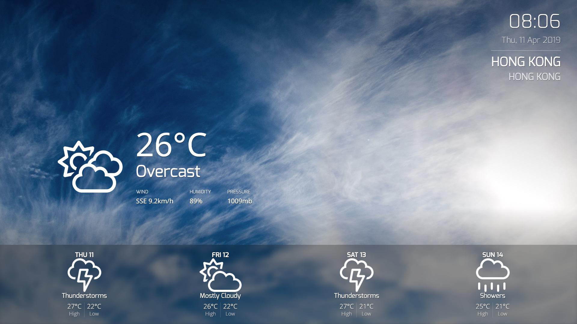 Weather App for Digital Signage image carousel