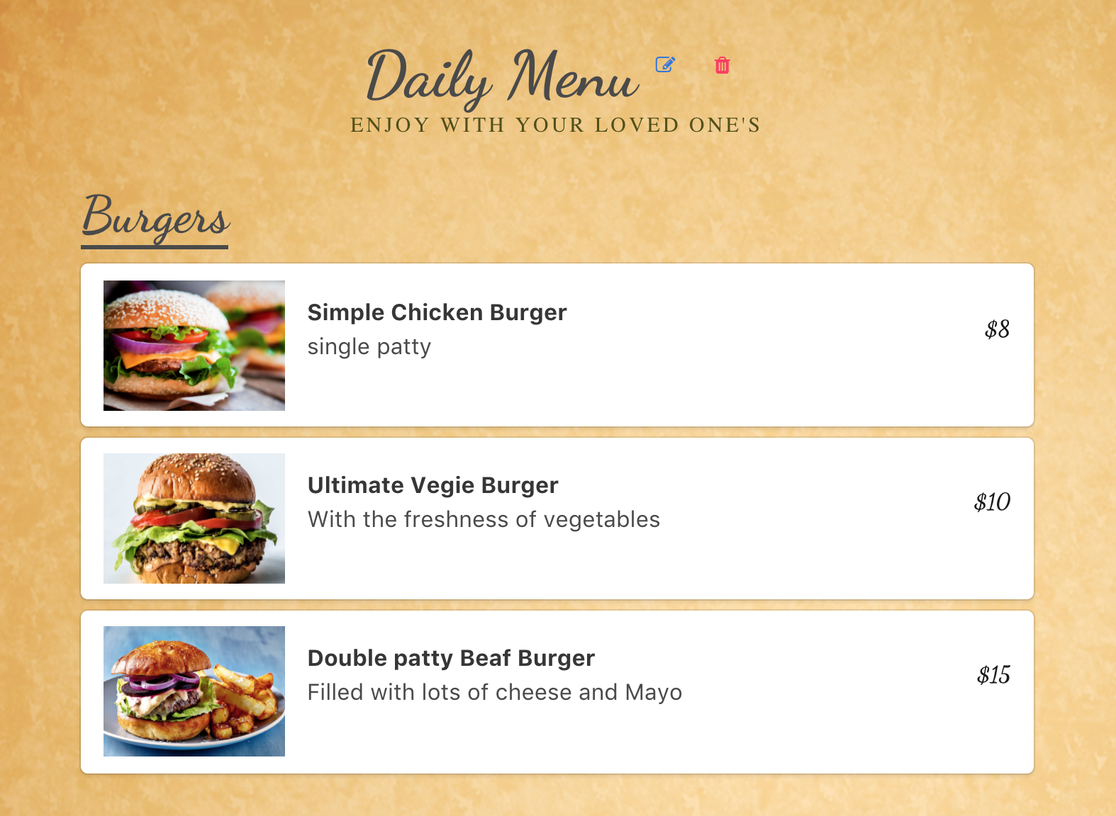 how to make a menu for a restaurant