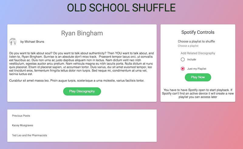 React Spotify Blog | Cosmic JS Apps