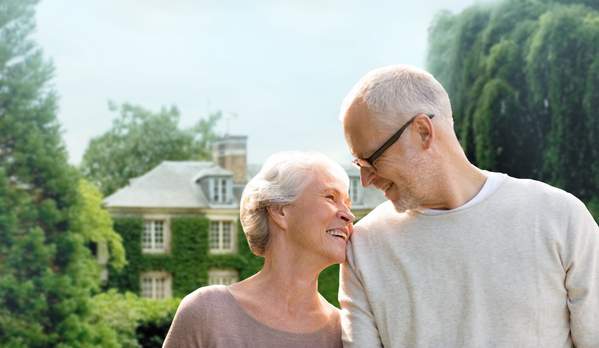 California Prop 60 helps older adults, like this couple, buy a new house in California.