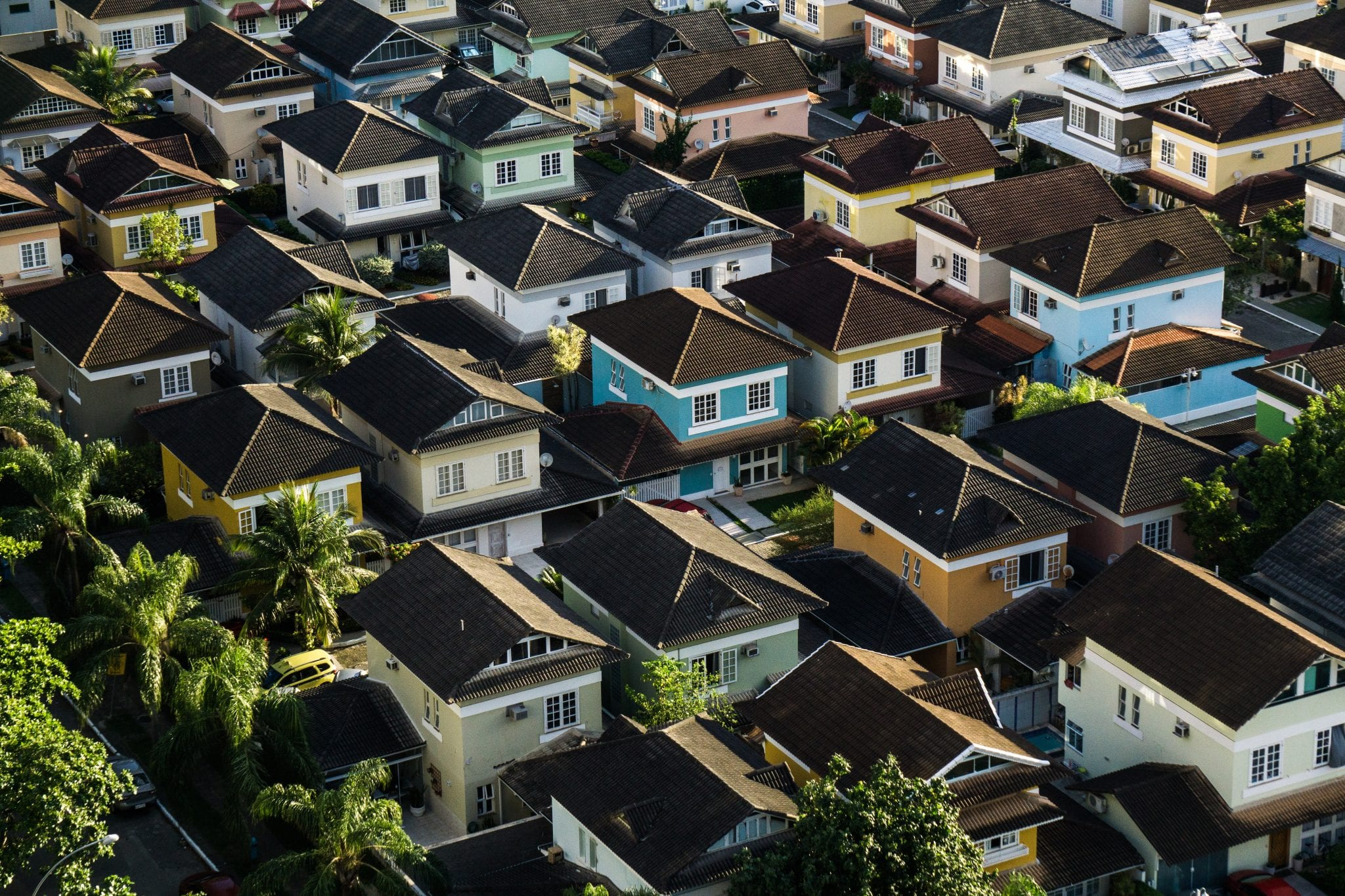 A neighborhood full of many houses, which is exactly what you need in real estate wholesaling.