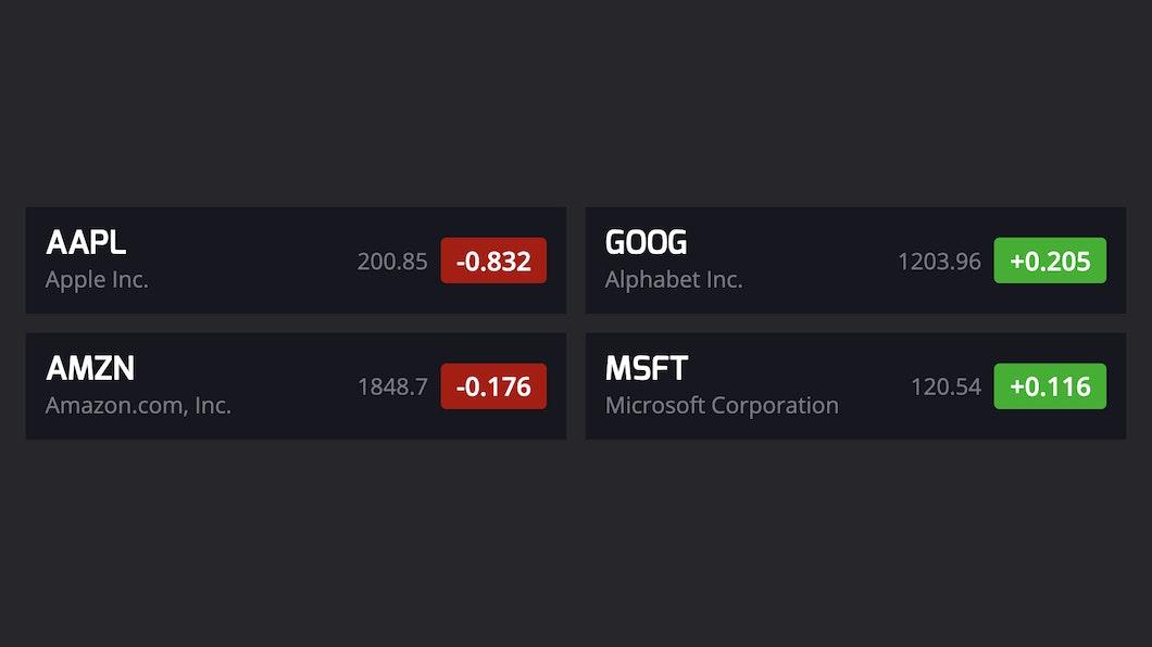 Stocks App for Digital Signage carousel 0