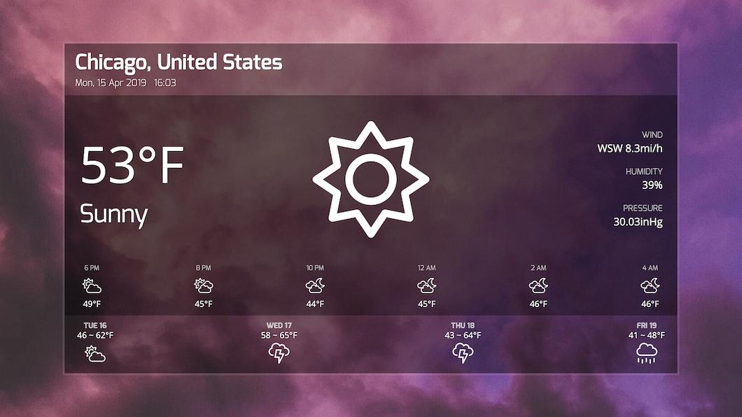 Weather - Digital Signage App carousel 1