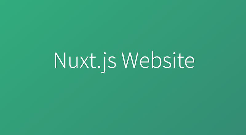 Nuxt js Website   Cosmic JS Apps