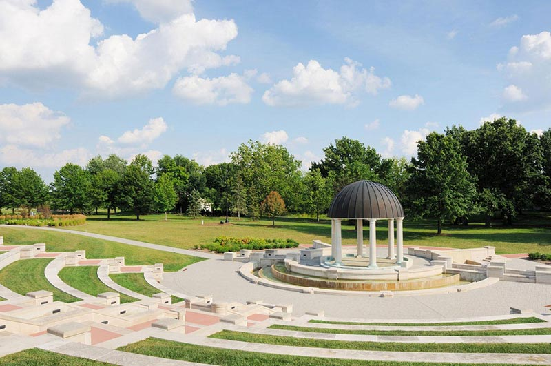A small amphitheater in Carmel Indiana