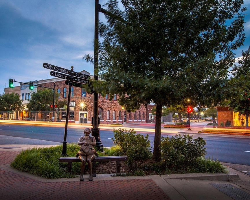 A street in Edmond Oklahoma