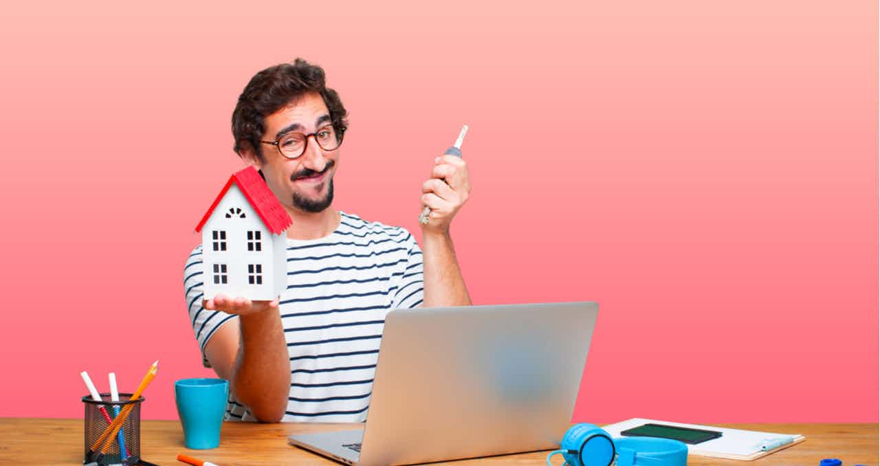 hipster buying a home