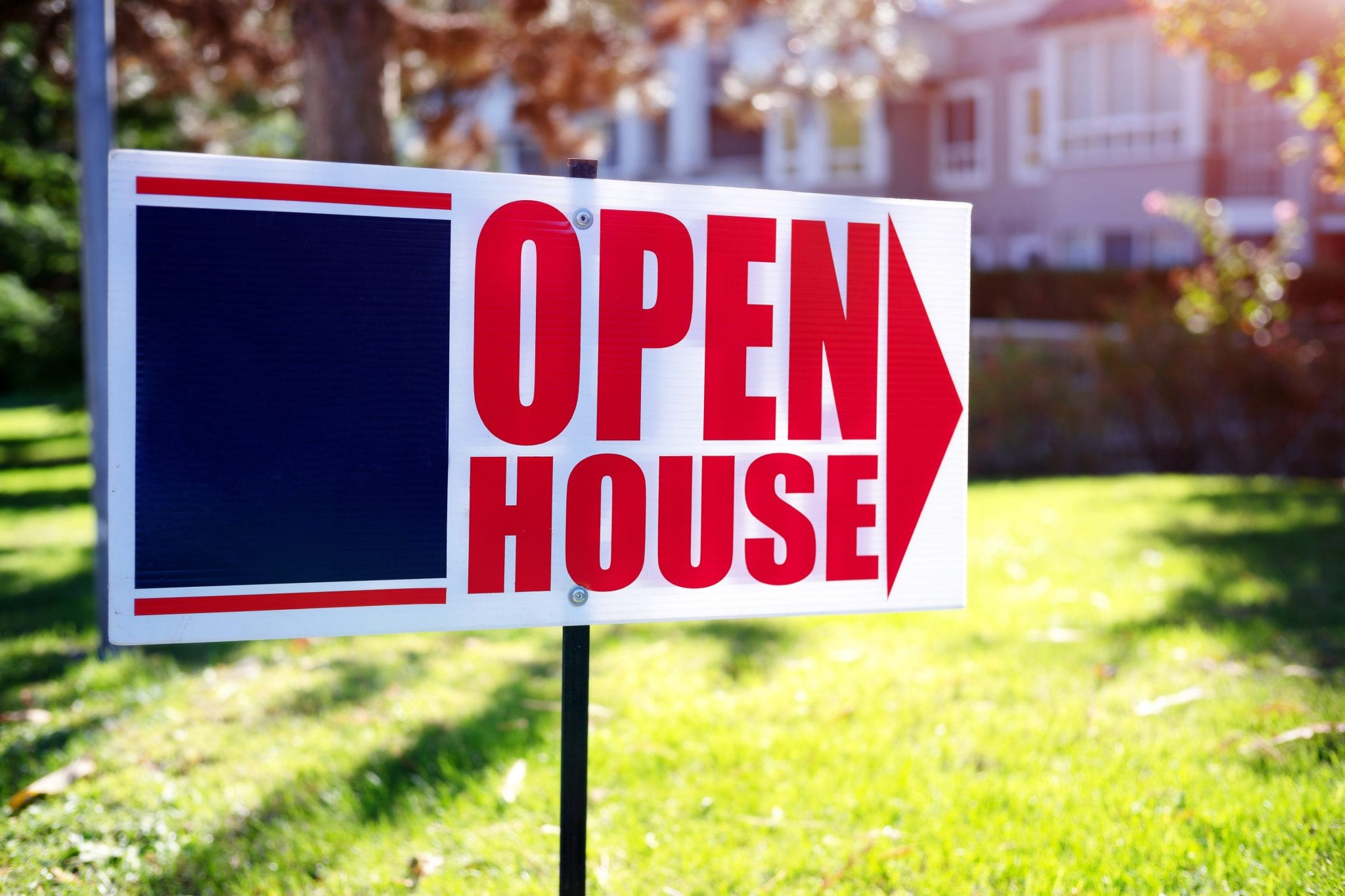 Open house near me sign