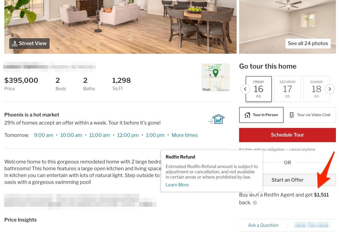Redfin rebates for buyers