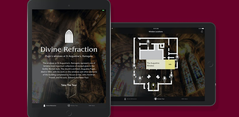 Divine Refraction website on devices