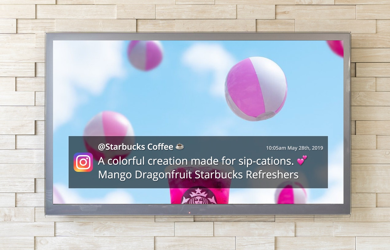Instagram for Digital Signage image