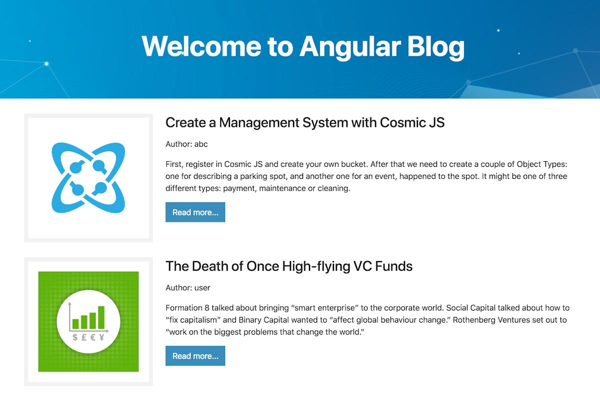 Angular Blog | Cosmic JS Apps