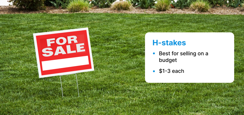 H-stake for sale sign holder