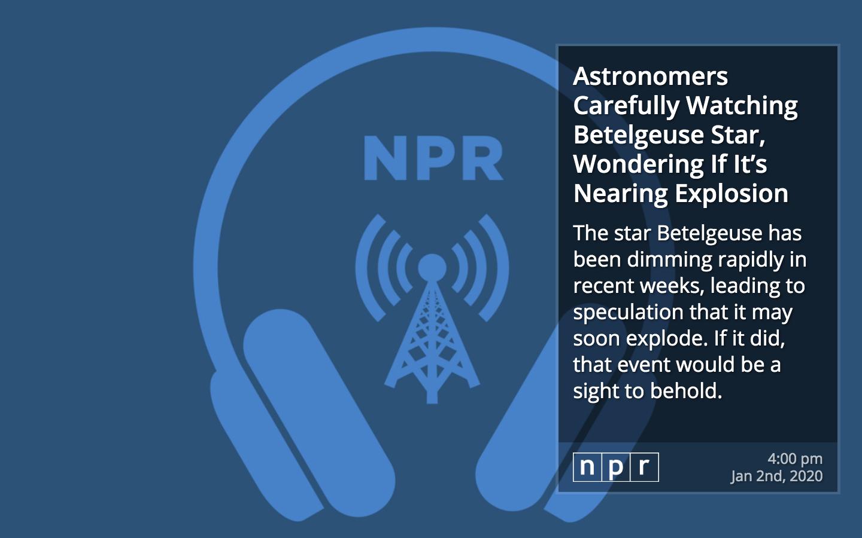 NPR RSS for Digital Signage image carousel