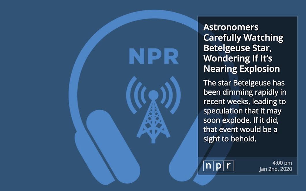 NPR RSS for Digital Signage carousel 0