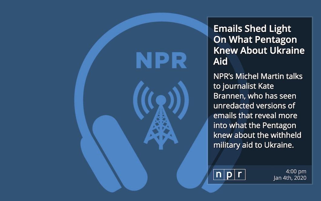 NPR RSS for Digital Signage carousel 2
