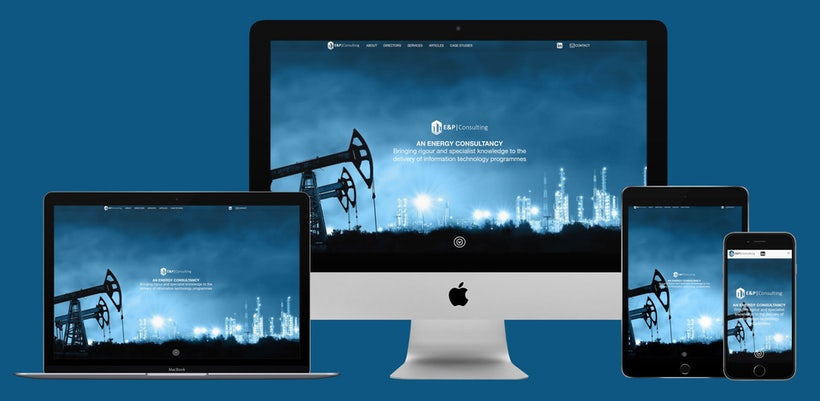 E&P Consulting website on devices