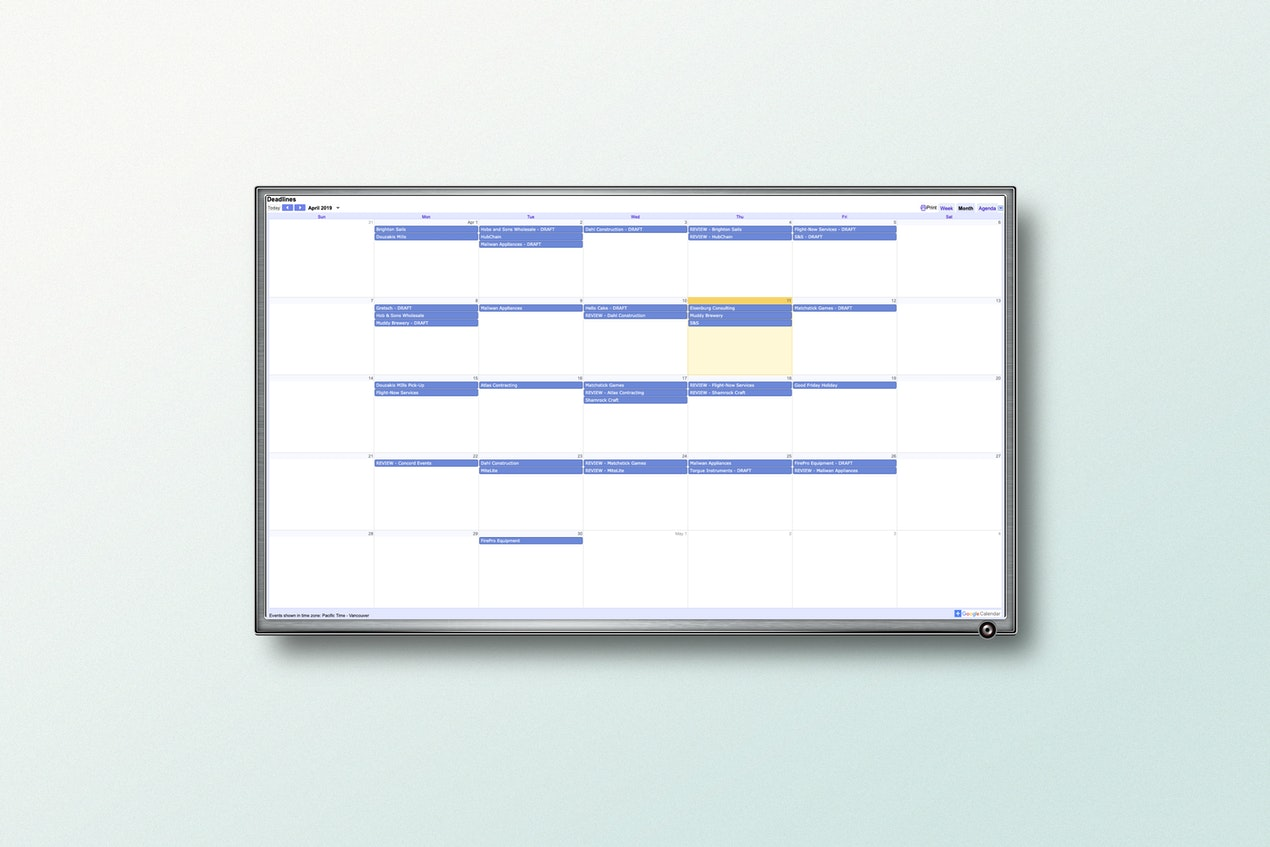 Google Calendar App for Digital Signage image