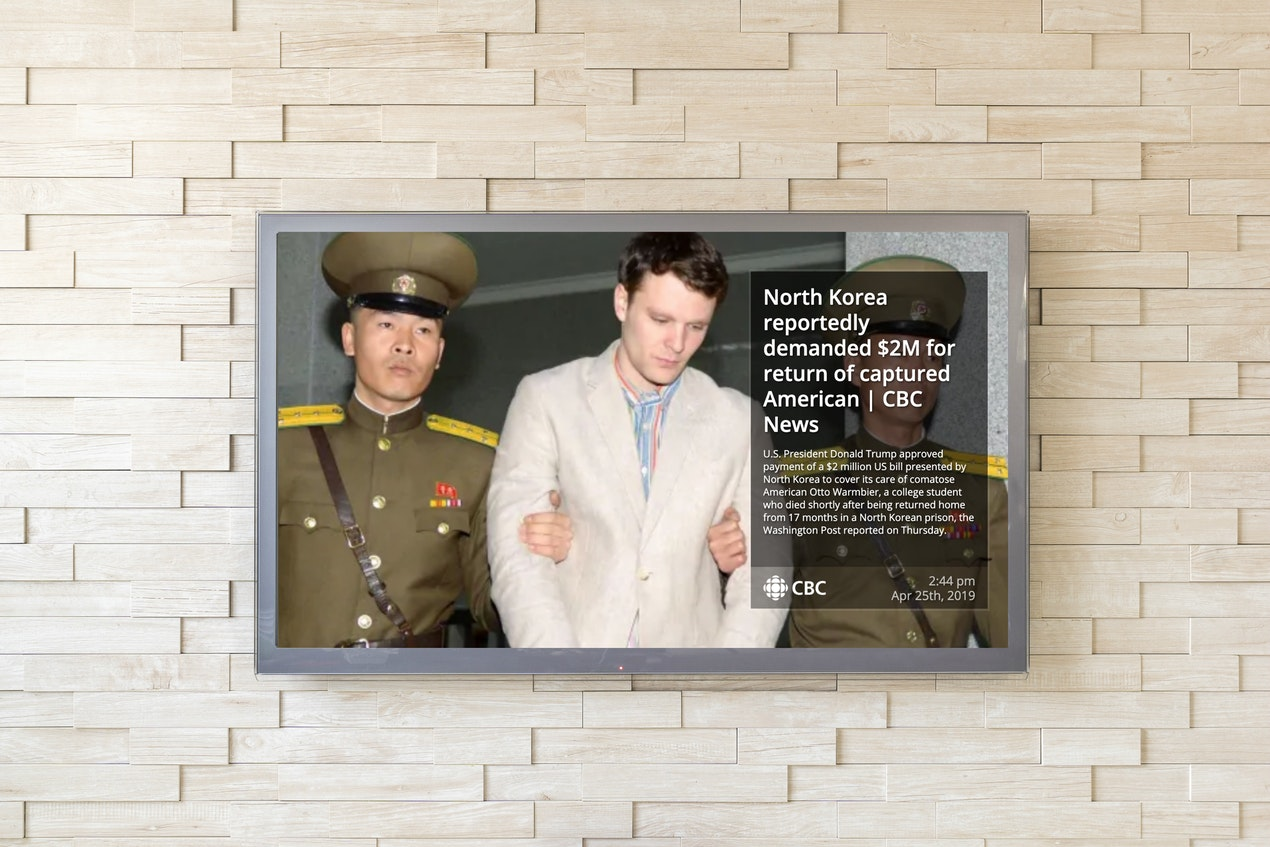 CBC RSS - Digital Signage App image