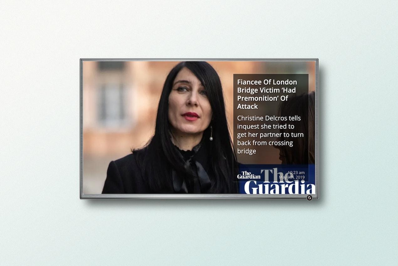 The Guardian RSS - Digital Signage App image