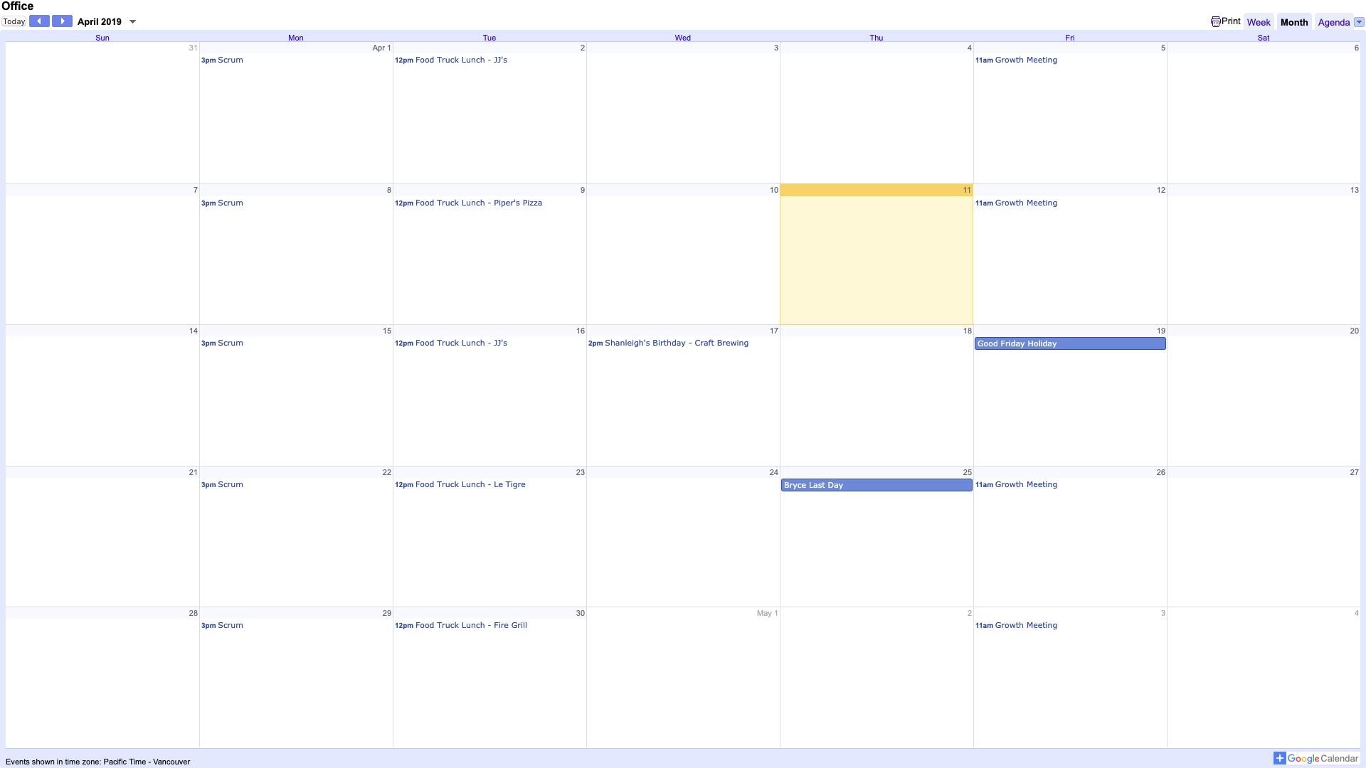 Google Calendar - Digital Signage App image carousel