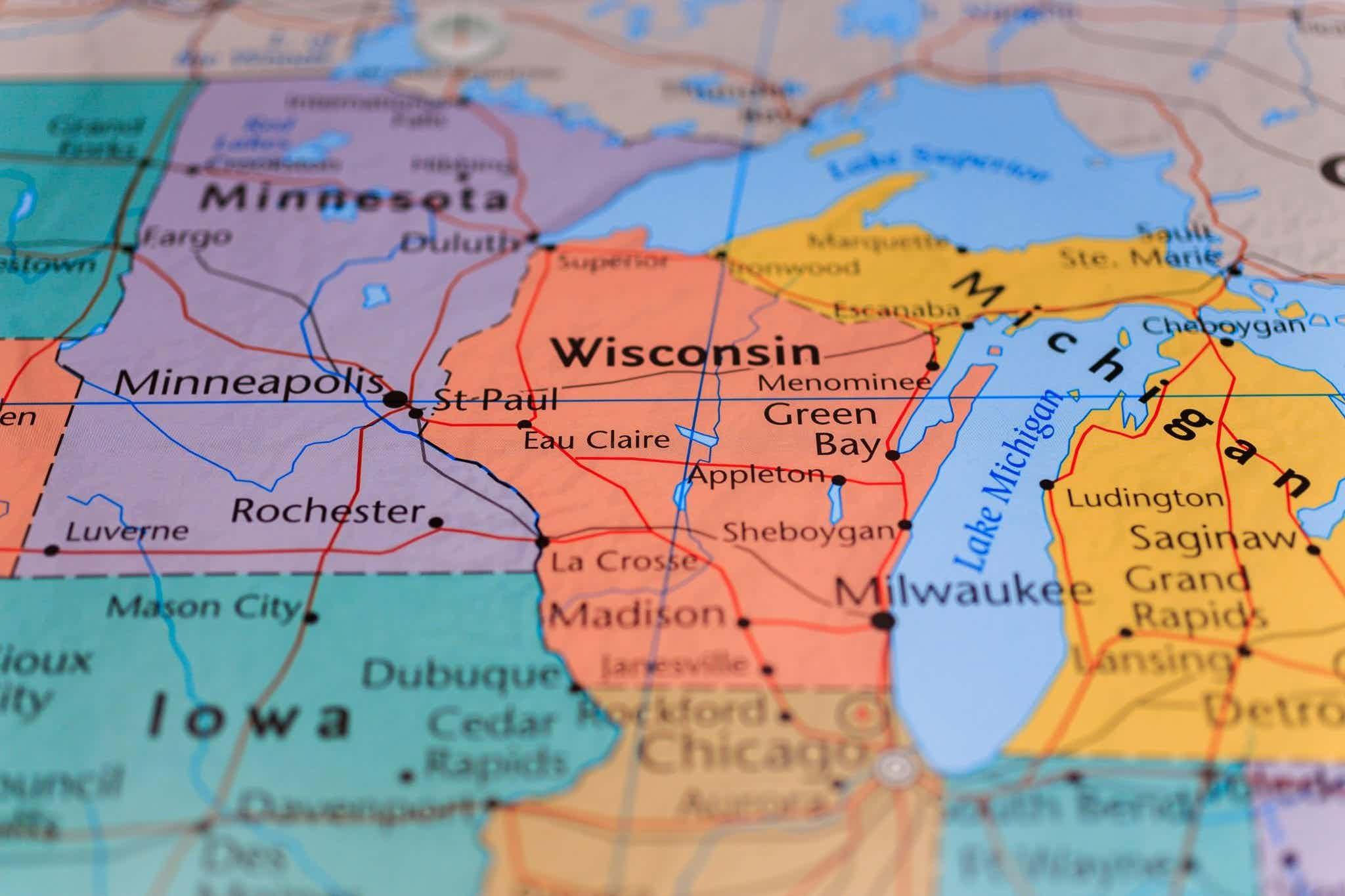 Wisconsin on map, WHEDA loan