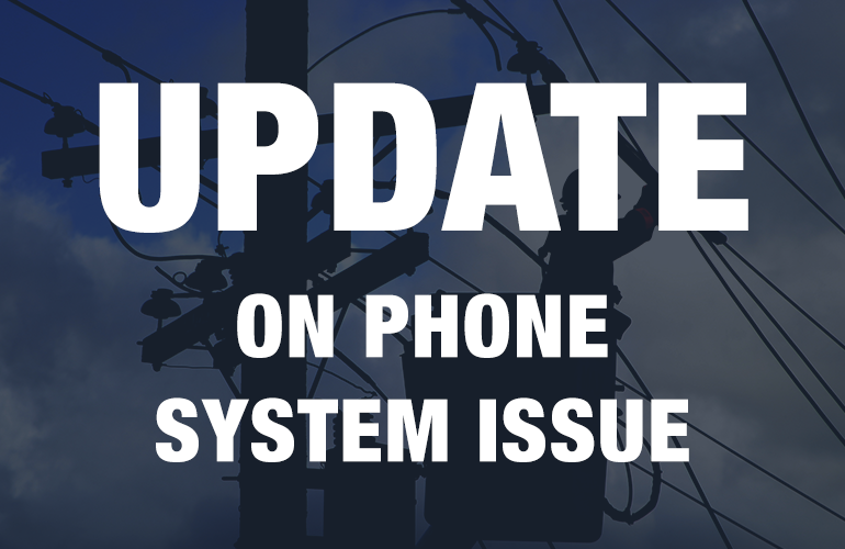 Phone system issues resolved