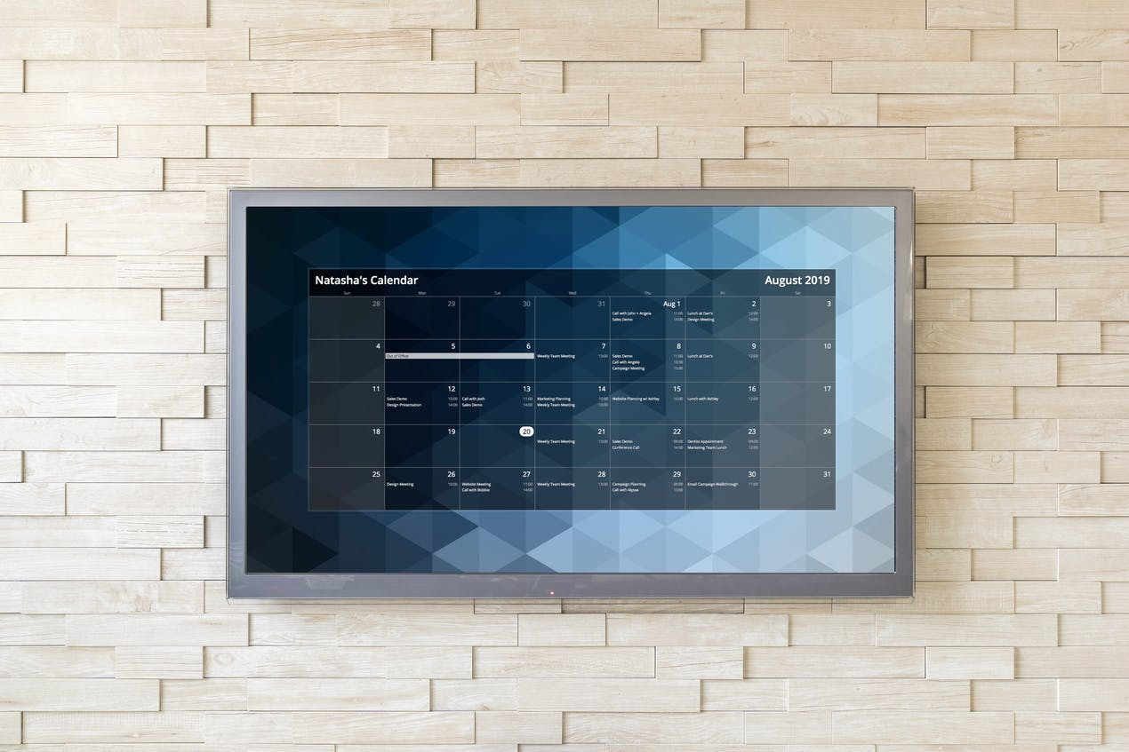 Calendar for Digital Signage image