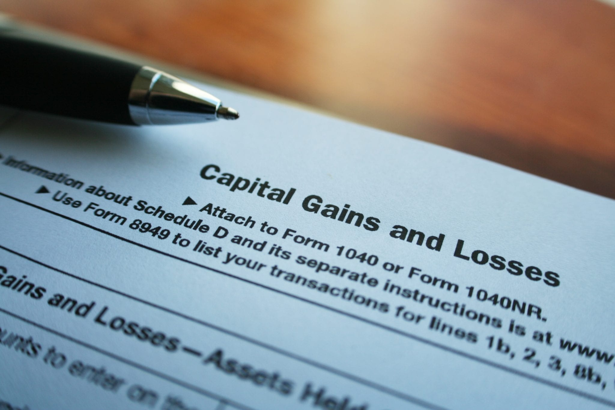 capital gains tax on real estate investment property