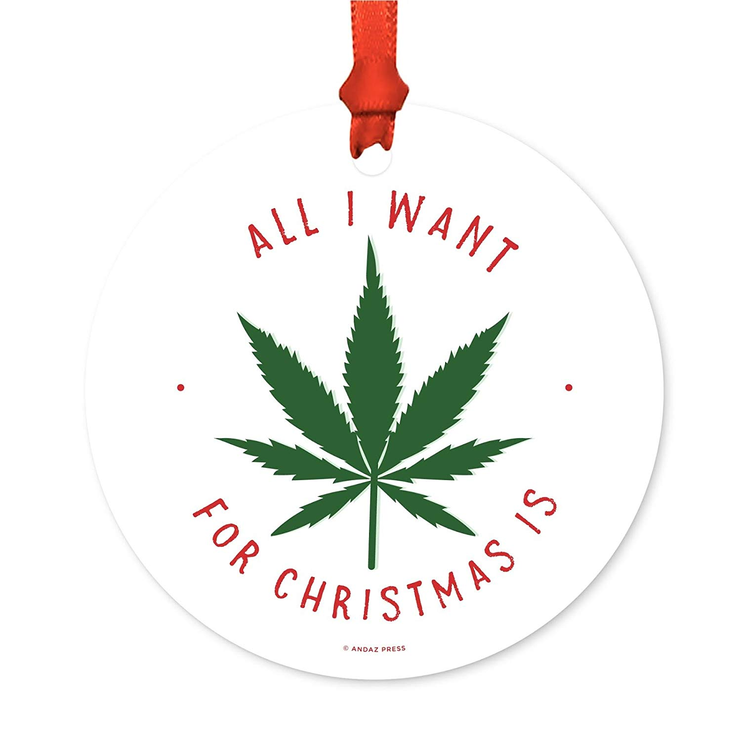Holiday Ornament with cannabis inside