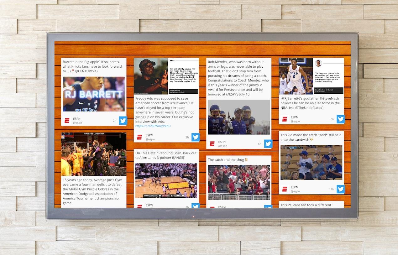 Social wall for Digital Signage image