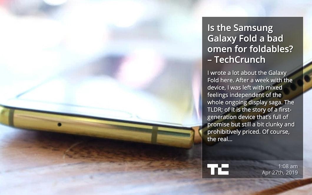 TechCrunch RSS - Digital Signage App carousel 1