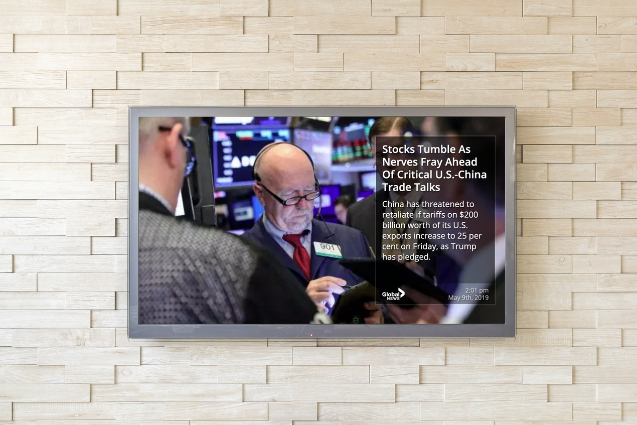 Global News RSS - Digital Signage App image