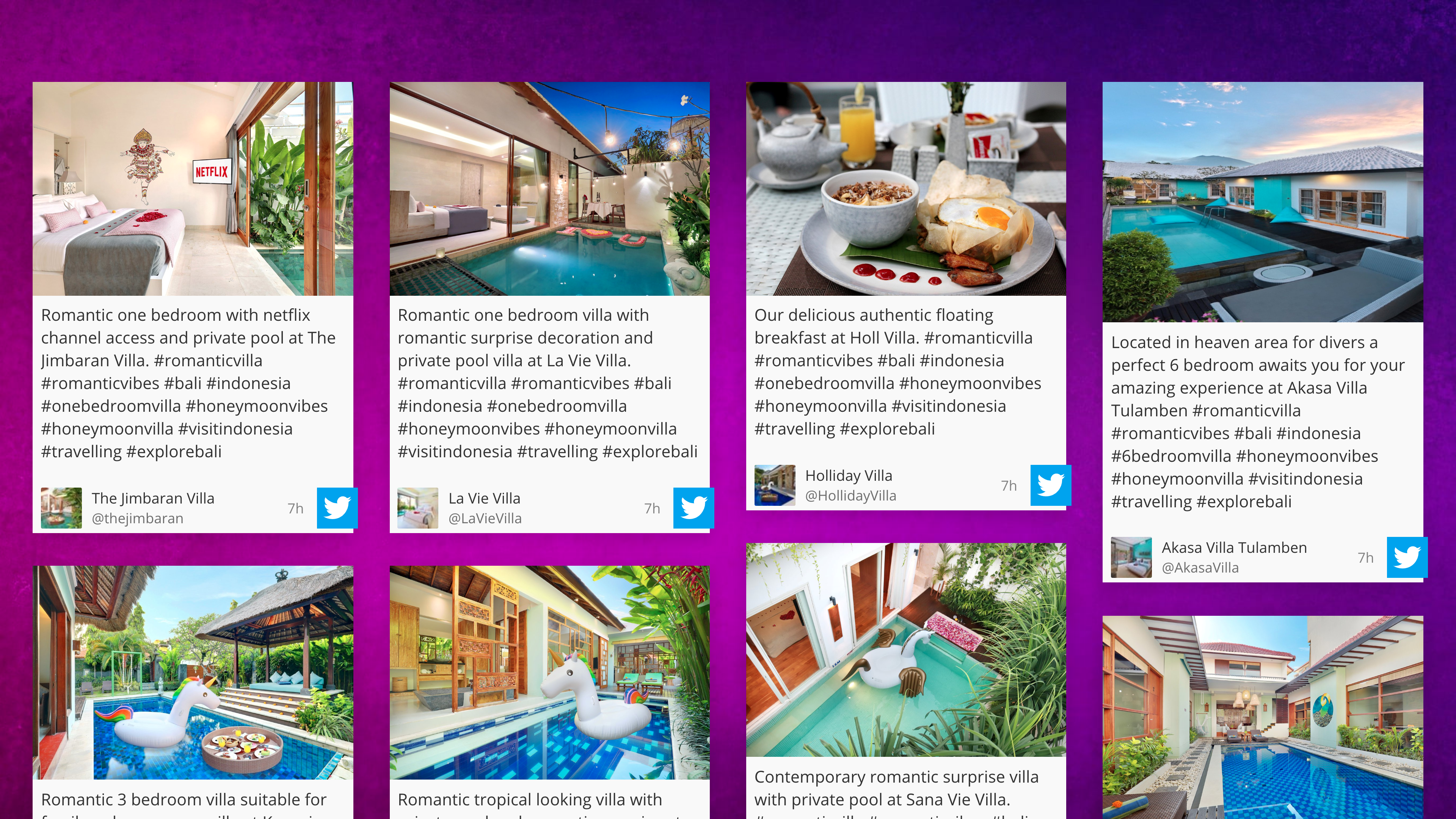 Social wall for Digital Signage image carousel