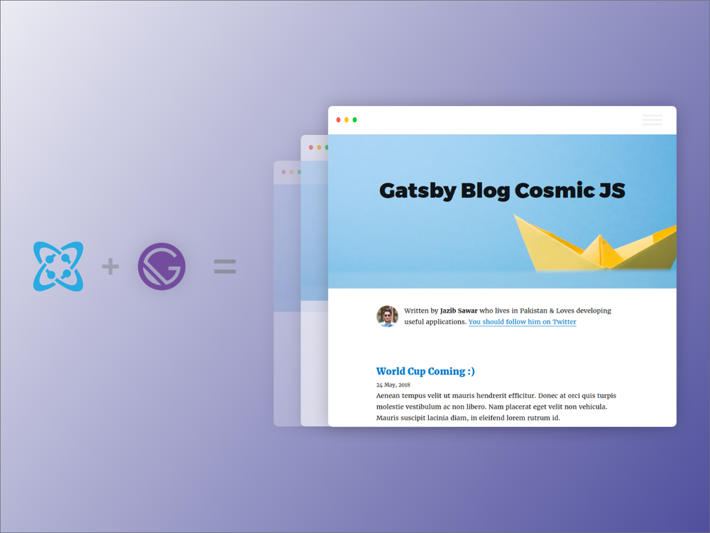 Build a Gatsby Blog using the Cosmic JS source plugin