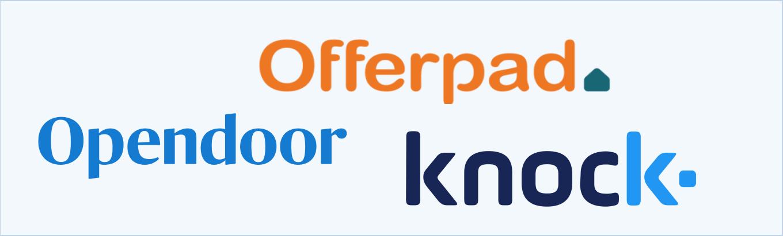 Offerpad vs. Opendoor vs. Knock logos