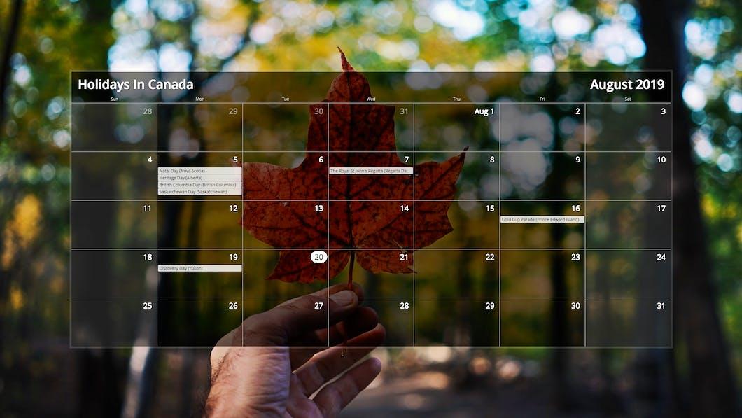 Calendar for Digital Signage carousel 0