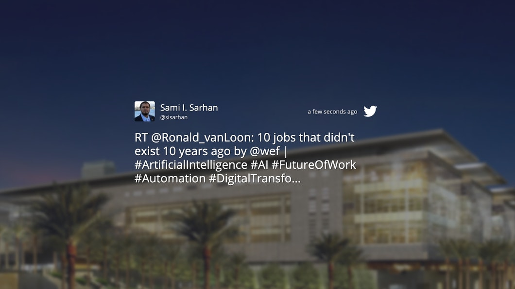 Twitter - Digital Signage App carousel 1