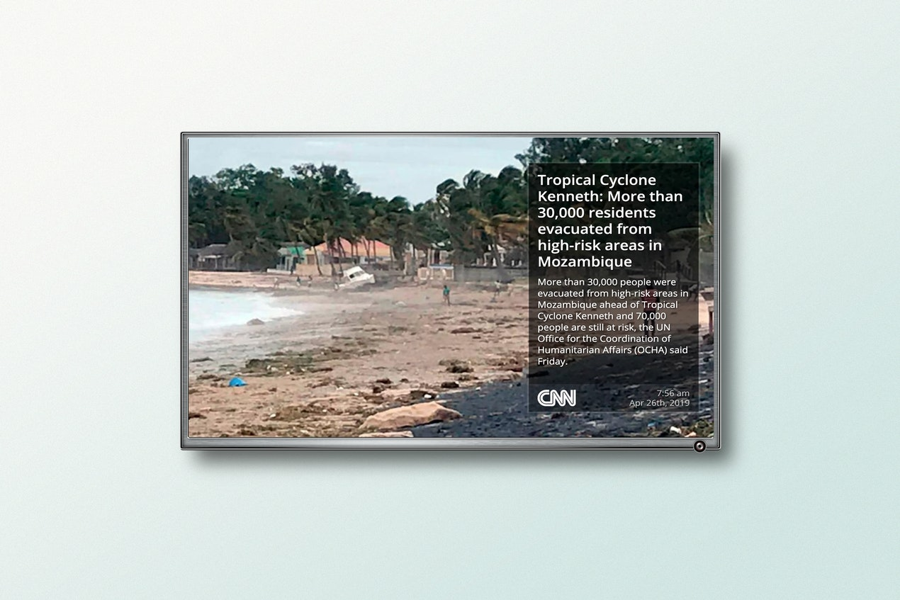 CNN RSS for Digital Signage image