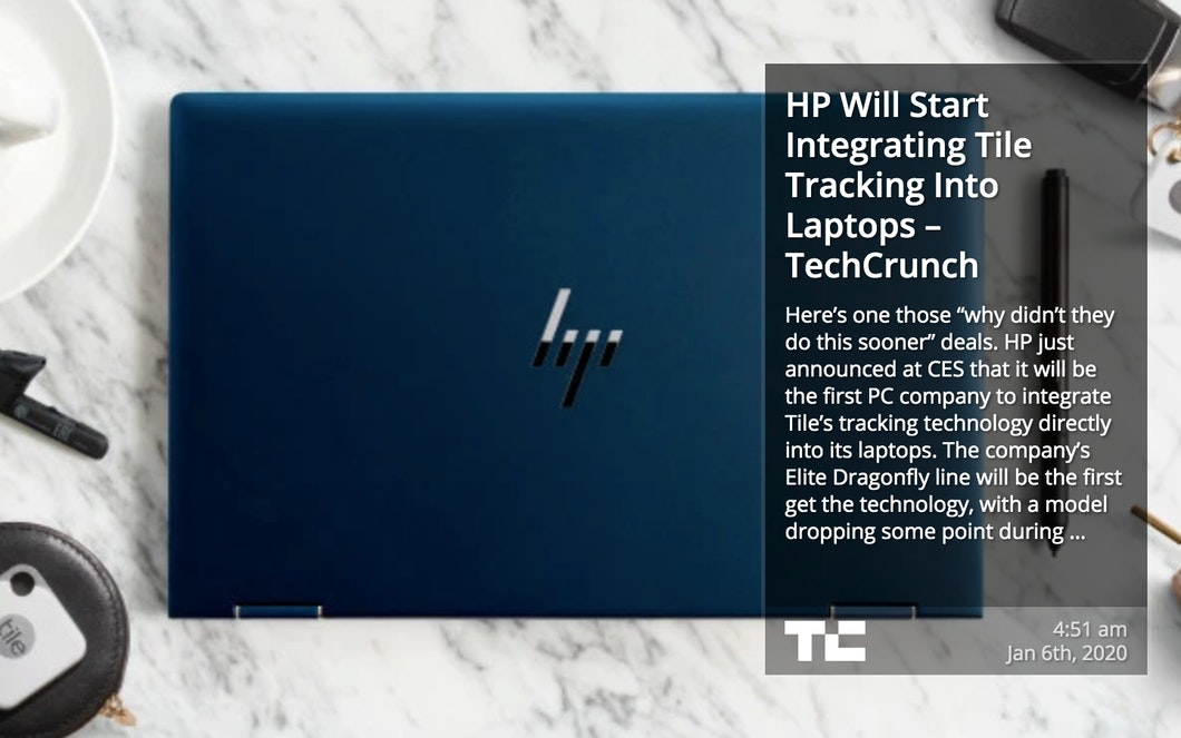 TechCrunch RSS for Digital Signage carousel 1