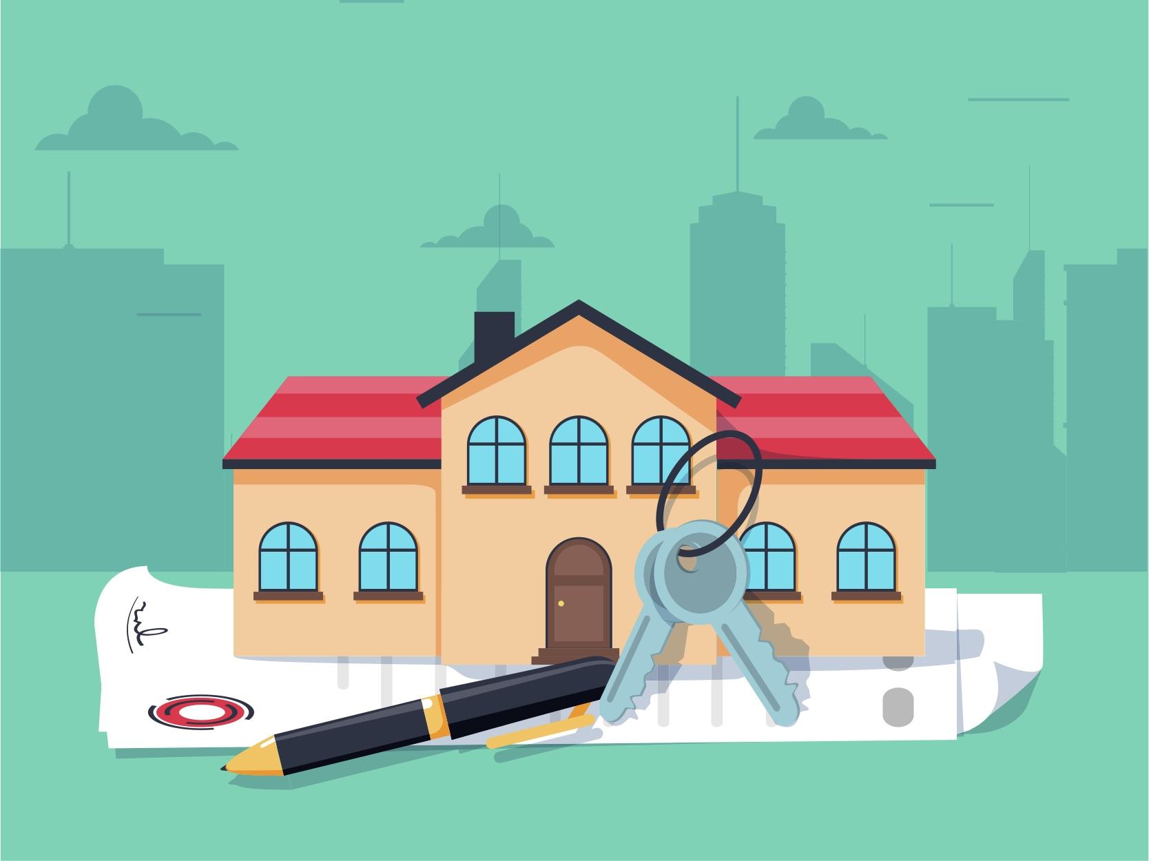 pending house illustration
