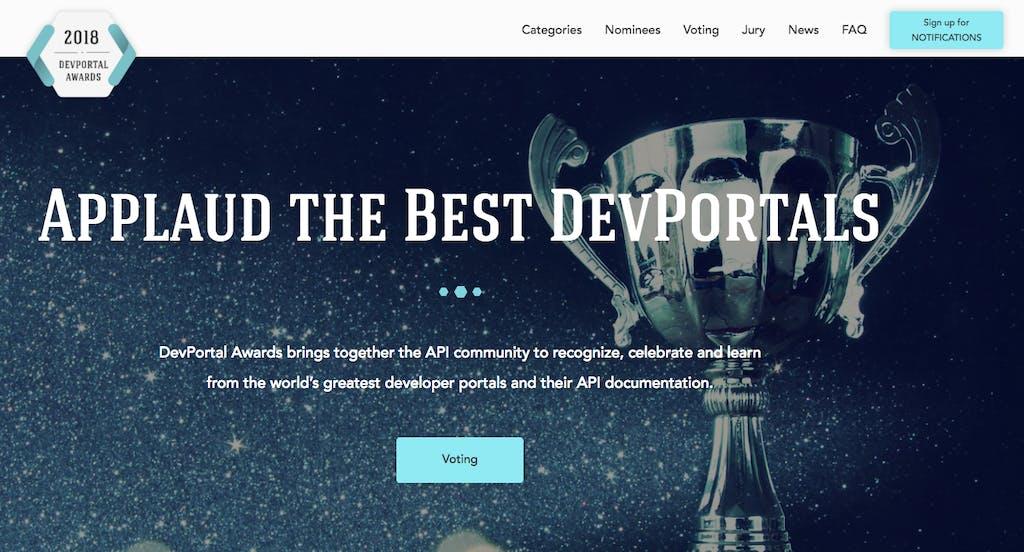 Dev Portal Awards dailymotion